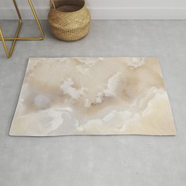 White Onyx Watercolor Texture Rug