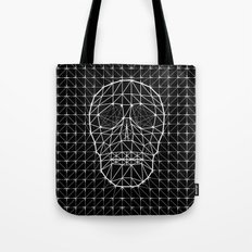 Triangle and Line Art Skull Tote Bag
