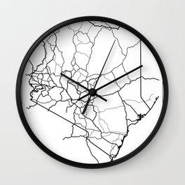 Kenya Map - Roads Wall Clock
