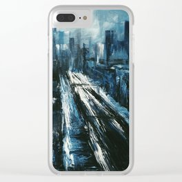 """Manhattan"" Painting Clear iPhone Case"
