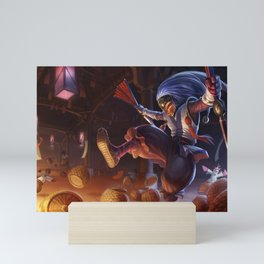 Masked Shaco League of Legends Mini Art Print