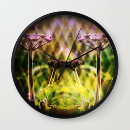 Freaky Plant  Geometric Wall Clock