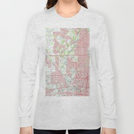 Vintage Map of Indianapolis Indiana (1967) Long Sleeve T-shirt