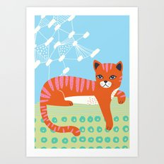 Buster's just hanging out Art Print