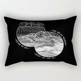 mountains-biffy clyro (black version) Rectangular Pillow