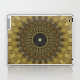 Mandala in golden tones Laptop & iPad Skin