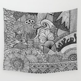 Doodle 3 Wall Tapestry