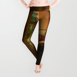 """Fra Filippo Lippi """"Portrait of a Woman with a Man at a Casement"""" Leggings"""