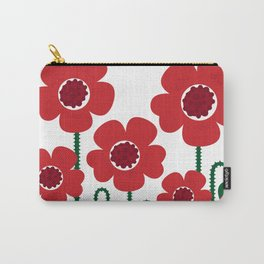 Red poppy designers flowers Carry-All Pouch