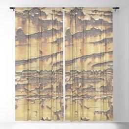 Rusty Sheer Curtain