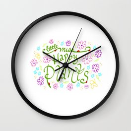 Little Miss Happy Plants Wall Clock