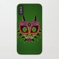 majoras mask iPhone & iPod Cases featuring Sugarskull / Majoras mask /color by tshirtsz