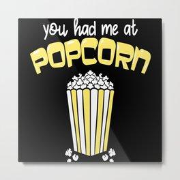 Popcorn Cinema Film Motif Metal Print
