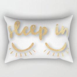 Gold sleep in Rectangular Pillow