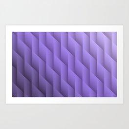 Gradient Purple Diamonds Geometric Shapes Art Print