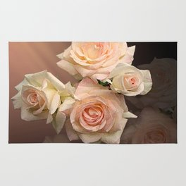 The Roses Blush at Dawn Rug