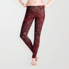 Antique Persian Red Rug Leggings