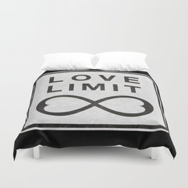 Grunge Road Sign - Infinite Love Limit Duvet Cover