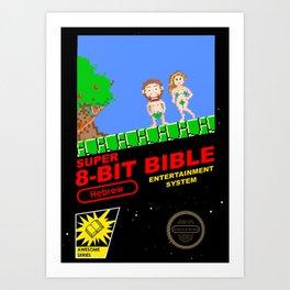 8-bit Bible Art Print
