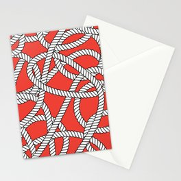 Red Rope Pattern Stationery Cards