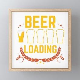 Funny Beer Loading Meme Beer Pong Drinking Gift Framed Mini Art Print