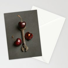 Cherries and Vintage Spanner Stationery Cards