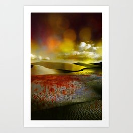 Blood and Bokeh Art Print