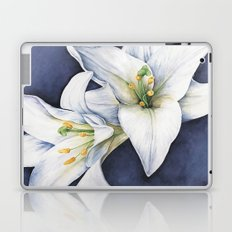 White Lilies Laptop & iPad Skin