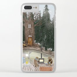 house of bear Clear iPhone Case
