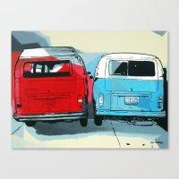 vans Canvas Prints featuring VW Vans by Nuno
