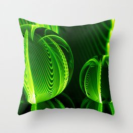 Lime lines in the glass balls. Throw Pillow