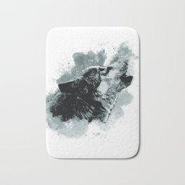 Wolf Watercolor Animal Bath Mat