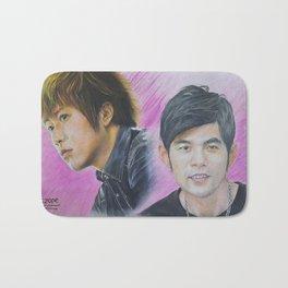[Want to Sell]Jay Chou & Ashin Colour Pencil Drawing ArtWork Bath Mat