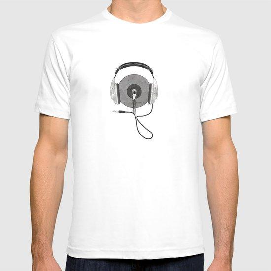 vinyl afro T-shirt