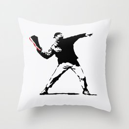 Jordan BRED 11 Thrower Throw Pillow