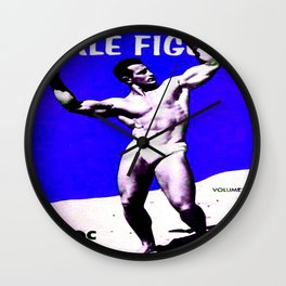 Male Figure 50 cents  Wall Clock