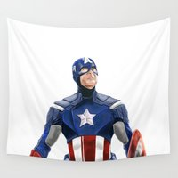 captain silva Wall Tapestries featuring Captain by Carrillo Art Studio