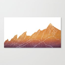 Colorado Mountain Ranges_Boulder Flat Irons Canvas Print