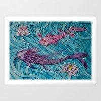ohana Art Prints featuring Ohana by Marisa Johnson :: Art & Photography