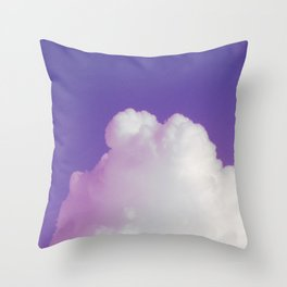Big Fluffy Cloud Against a Purple Sky, Beautiful Cloud and Beautiful Sky Throw Pillow