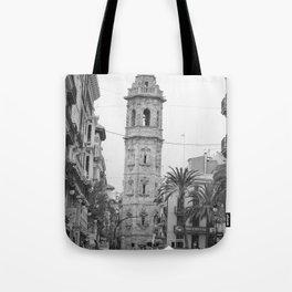 Black White Architecture in Valencia Tote Bag