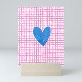 Minimalistic heart print. Romantic design. Mini Art Print