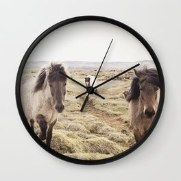 Horse Photograph in Color Wall Clock