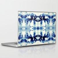 tie dye Laptop & iPad Skins featuring Tie Dye Blues by Nina May Designs