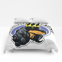 Black and tan cocker spaniel head Comforters