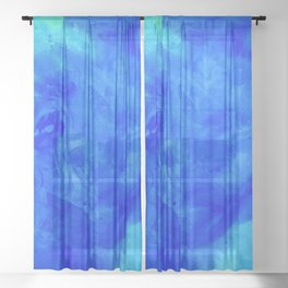 Ice Palace Watercolor Texture Sheer Curtain