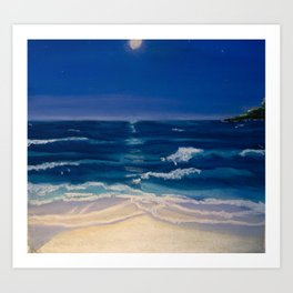 Night Beach Art Print