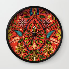 aziza fire Wall Clock