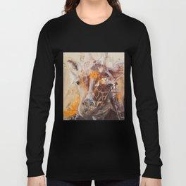 "Giraffe - Animal - ""Presence"" by LiliFlore Long Sleeve T-shirt"