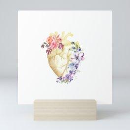 Floral Heart Anatomy  Mini Art Print